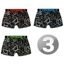 3 Boxers Freegun Tattoo motif Tribal
