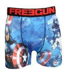 boxer fantaisie freegun motif capitaine amerique