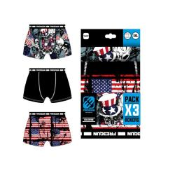 3 Boxers  Freegun motif USA
