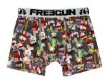Boxer Enfant FREEGUN motif Lapins Cretins all