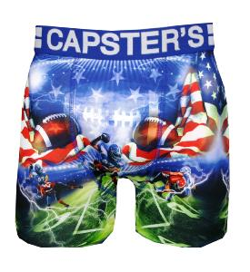 boxer capster's motif usa foot