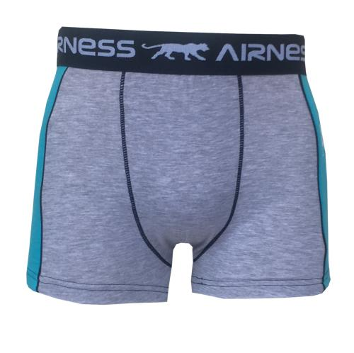 Boxer Airness Duo  gris et bleu
