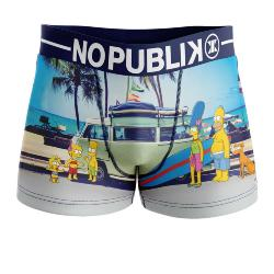 Boxer Homme No Publik motif Simpson Holiday