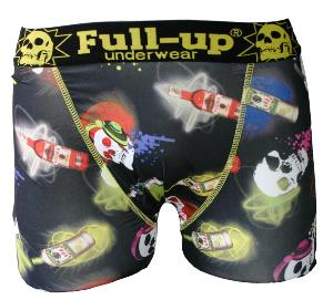 boxer full-up motif skulls fusion