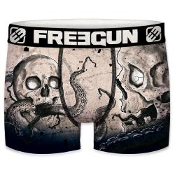 Boxer Fantaisie Freegun Poulpe tattoo