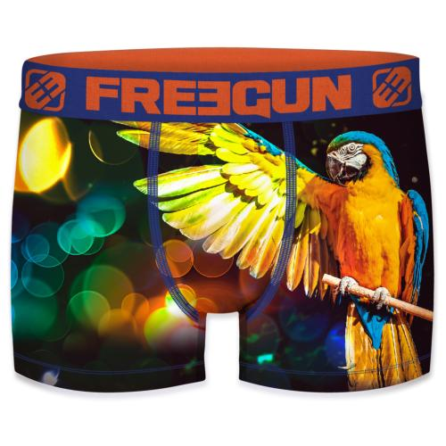 Boxer enfant Fantaisie Freegun perroquets colors