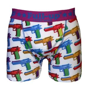 boxer full-up motif guns blanc