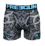 boxer freegun Tattoo motif tribal bleu