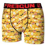 Boxer Fantaisie Freegun motif  Smiley yellow