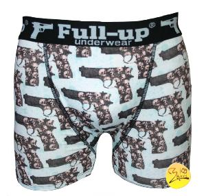 boxer full-up motif guns bleu