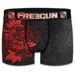 Boxer Freegun motif  Tattoo fish