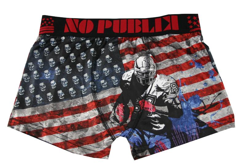 Boxer Nopublik motif foot usa