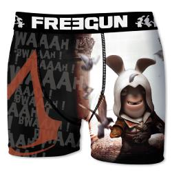 Boxer Freegun Lapins Cretins motif Assassin Creed