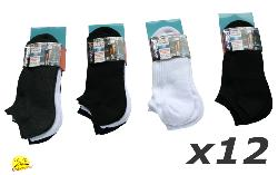 LOT 12 Chaussettes Invisibles Homme