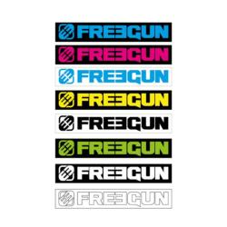 8 Stickers  FREEGUN rectangulaire