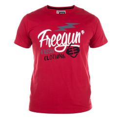T-Shirt FREEGUN jersey Rouge