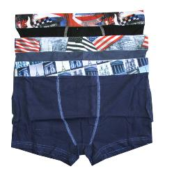 lot 3 Boxers Homme Twinday en Coton
