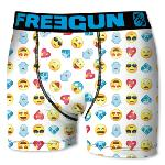 Boxer Fantaisie Freegun motif Smileys White