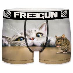 Boxer Enfant freegun motif chat